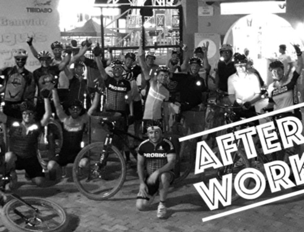 After Work, Salida nocturna en MTB. 25 de enero 2018